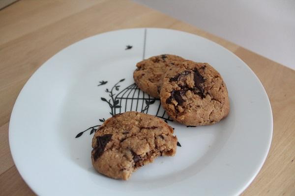 Recette de cookies sans gluten, sans œufs, sans lait