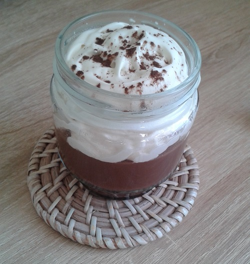 Dessert au chocolat sans lactose, sans oeuf, sans gluten