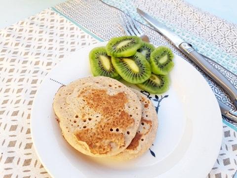 Pancakes sans gluten, sans lait, sans œuf
