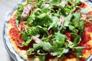 Pizza sans gluten et sans fromage