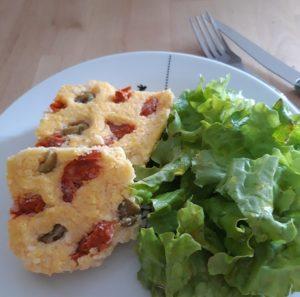 Repas rapide sans gluten : polenta garnies