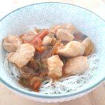 Menu asiatique sans gluten, sans lait, sans oeuf