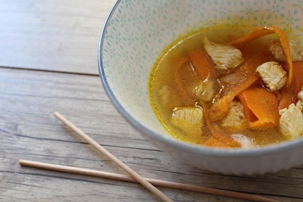 Soupe Thaï sans gluten, sans lactose