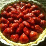 Dessert aux fraises sans gluten, sans lait, sans oeuf