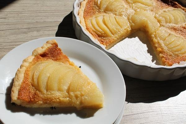 Tarte Bourdaloue aux poires sans gluten, sans lait de vache, sans œuf