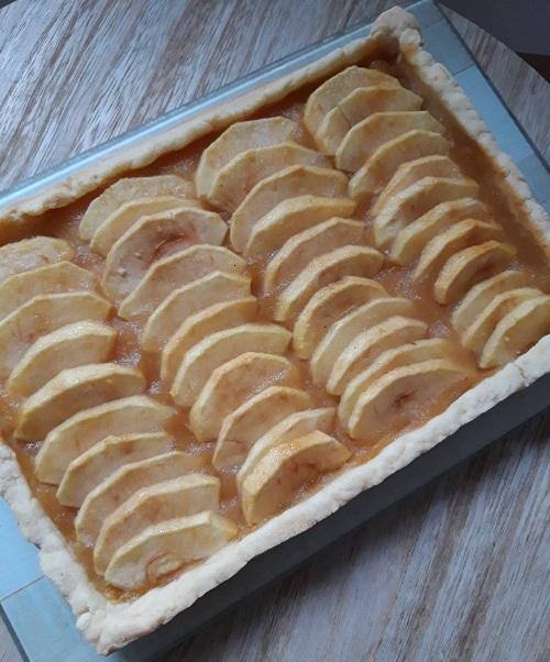 Tarte aux pommes sans gluten, sans lait, sans oeufs