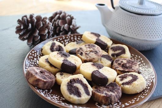 Biscuits sablés au chocolat sans gluten, sans lait, sans oeuf