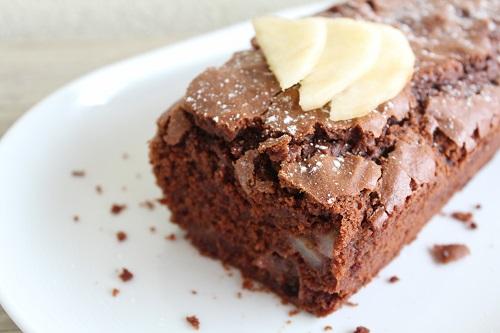 Cake poire chocolat fondant sans gluten, sans lait, sans oeuf