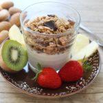 Recette de granola pour un petit déjeuner sans gluten, sans lait, sans oeuf équilibré et protéiné