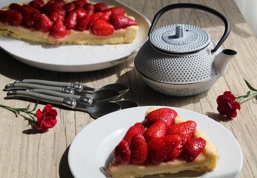 Tarte aux fraises sans gluten, sans lait, sans oeuf