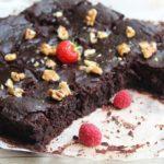 Brownie sans gluten, sans lait, sans oeuf et sans matieres grasses